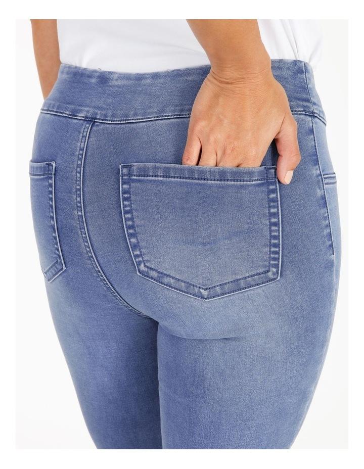 Wardrobe Staple Full Length Denim Jegging in Clear Blue image 4