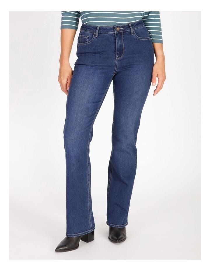 Wardrobe Staple Bootcut Full Length Jean in Indigo image 1