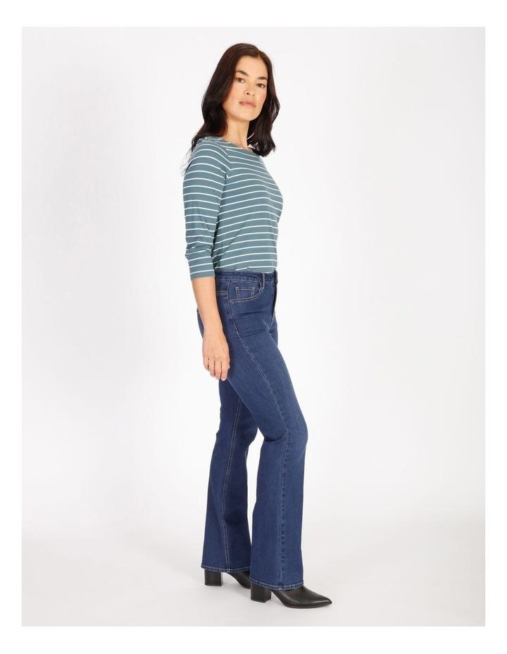 Wardrobe Staple Bootcut Full Length Jean in Indigo image 2