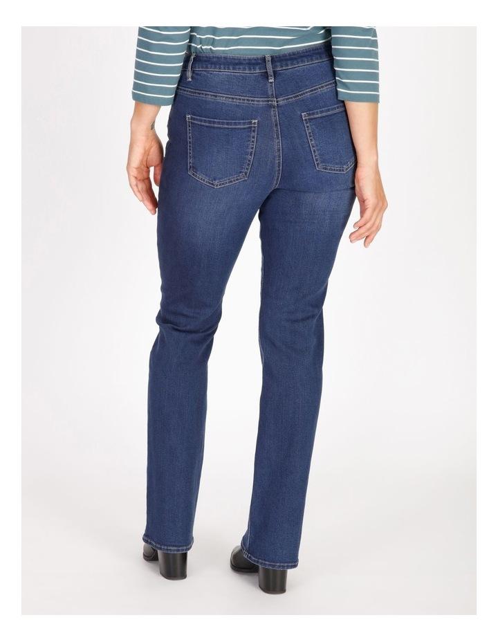 Wardrobe Staple Bootcut Full Length Jean in Indigo image 3