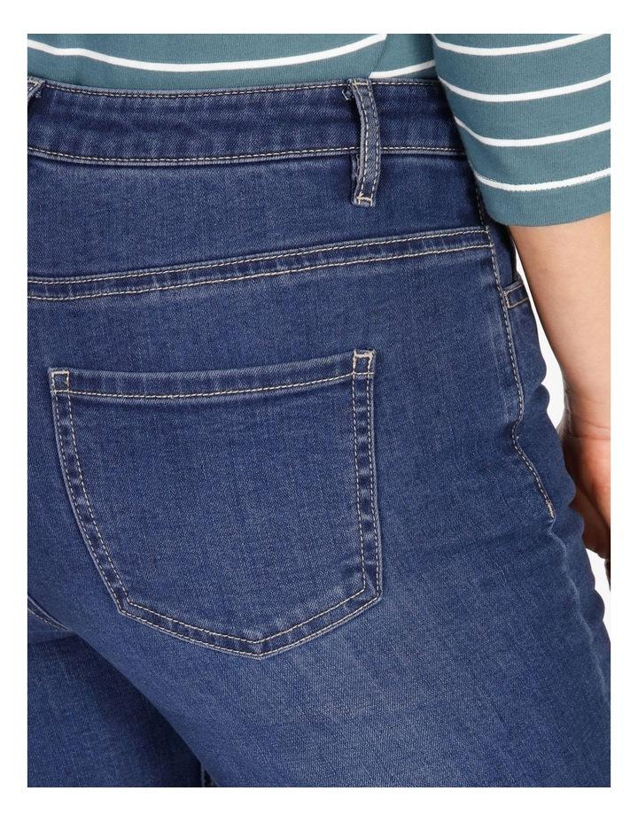 Wardrobe Staple Bootcut Full Length Jean in Indigo image 4