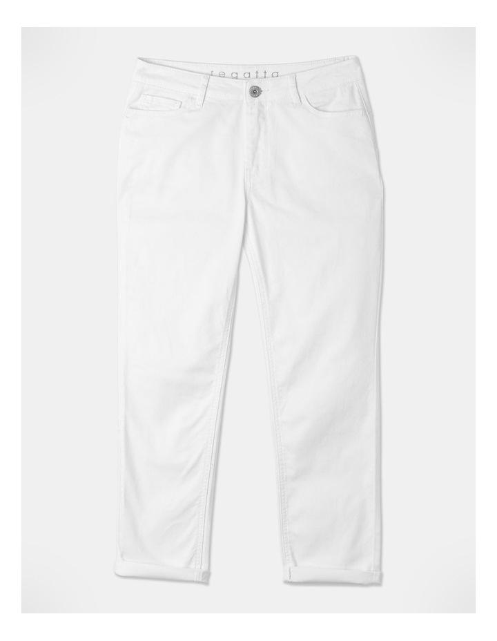 Wardrobe Staple Denim Crop Jean Blanc White image 1