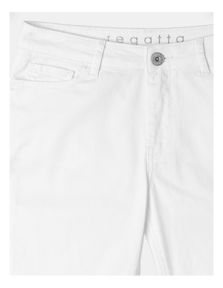 Wardrobe Staple Denim Crop Jean Blanc White image 2