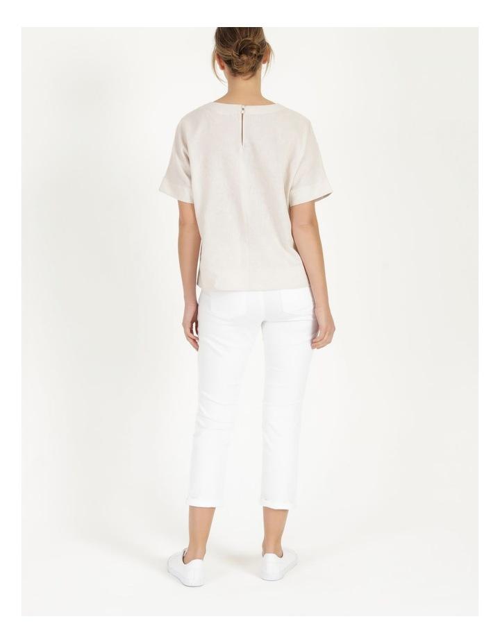 Wardrobe Staple Denim Crop Jean Blanc White image 4