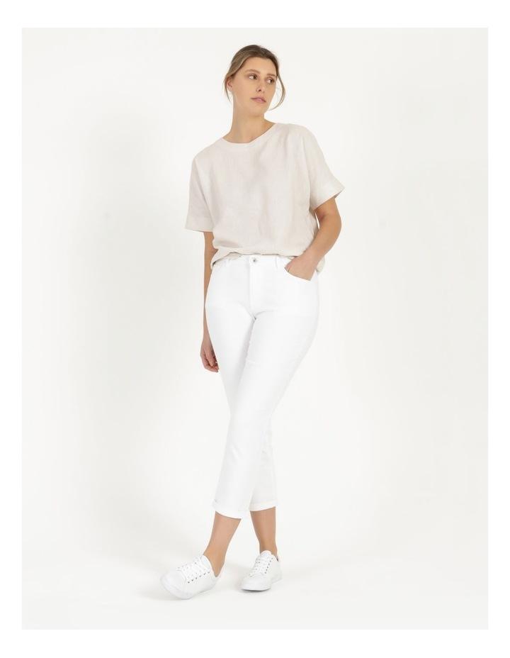 Wardrobe Staple Denim Crop Jean Blanc White image 5