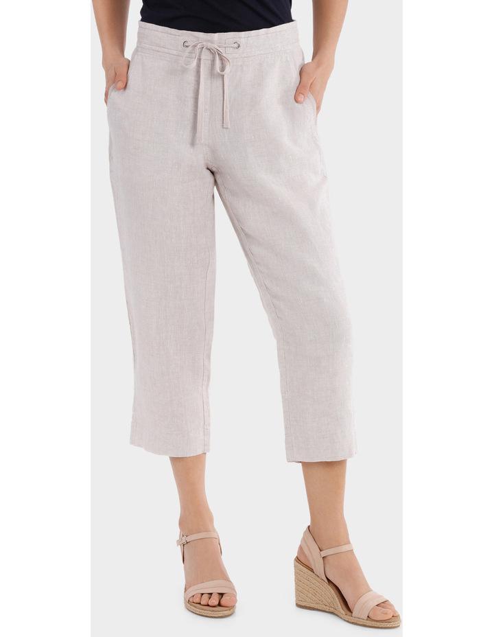 Essential Linen Crop Pant image 1
