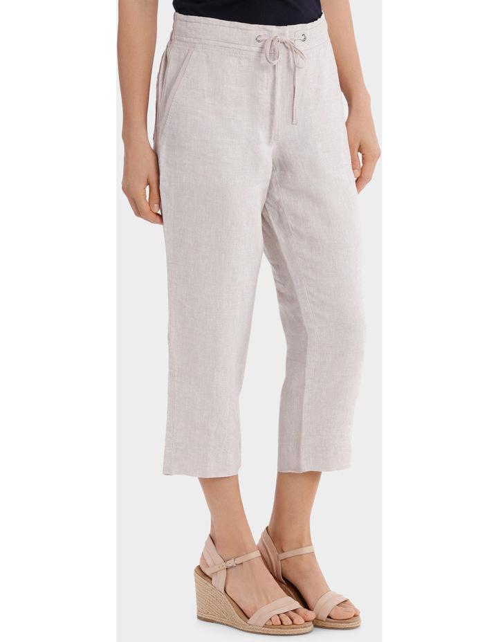 Essential Linen Crop Pant image 2