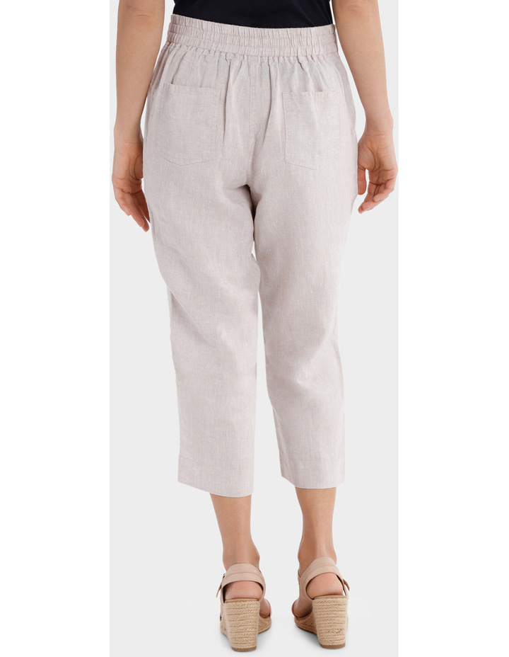 Essential Linen Crop Pant image 3