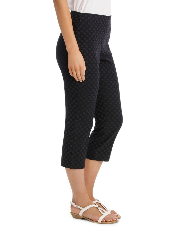 Essential Stretch Text Crop Pant image 2