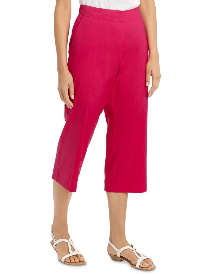 Stretch Linen Crop Pant image 2