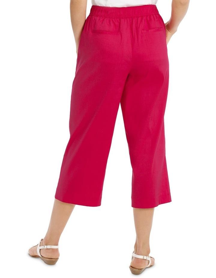 Stretch Linen Crop Pant image 3