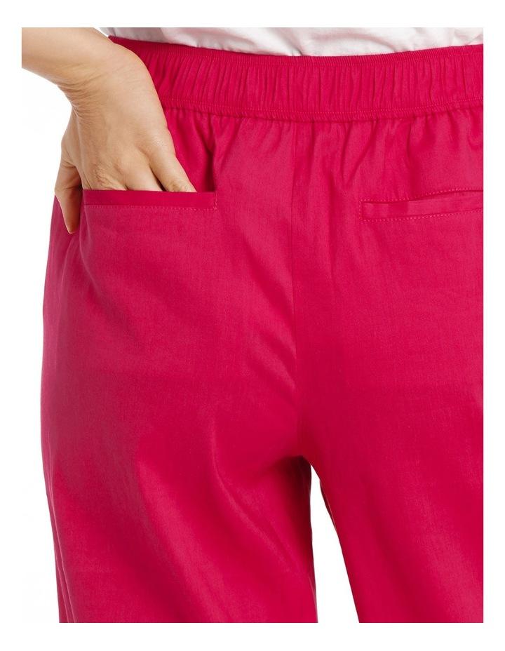 Stretch Linen Crop Pant image 4
