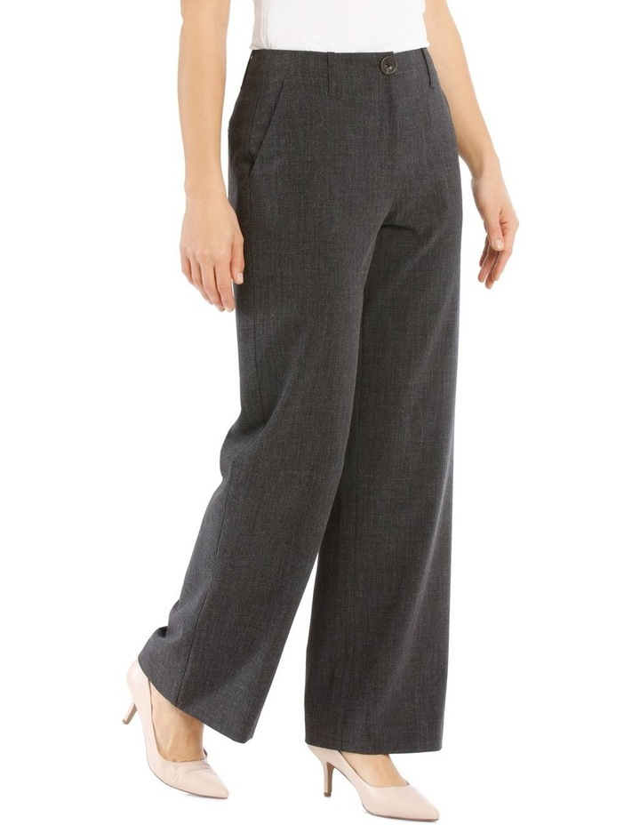 Flat Waisted Wide Leg Pant-Full Length-Charcoal image 2