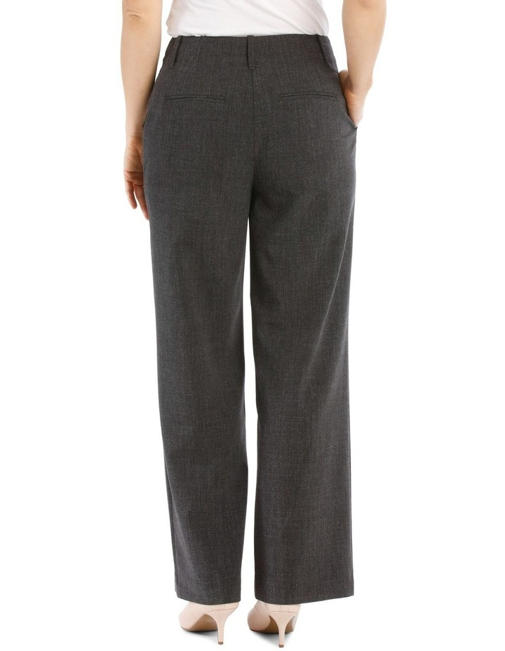 Flat Waisted Wide Leg Pant-Full Length-Charcoal image 3