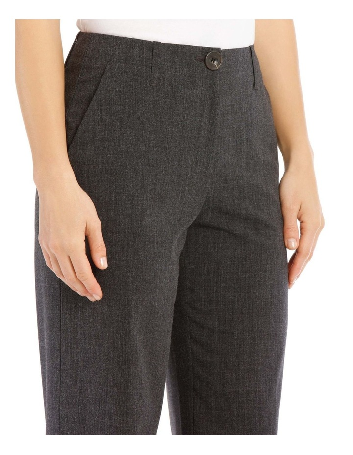 Flat Waisted Wide Leg Pant-Full Length-Charcoal image 4