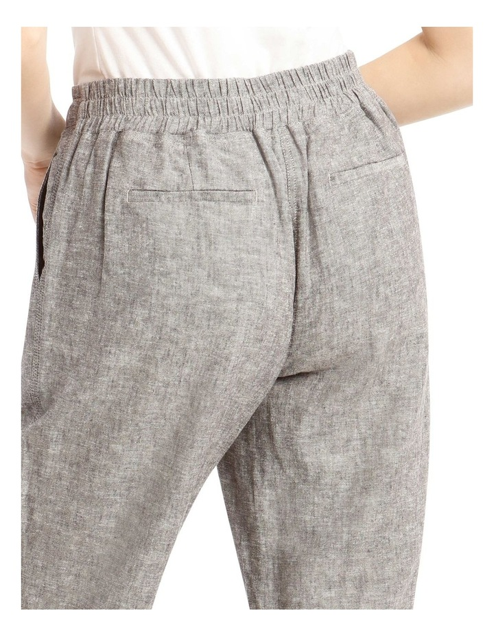 Linen Blend Straight Leg Pant image 4