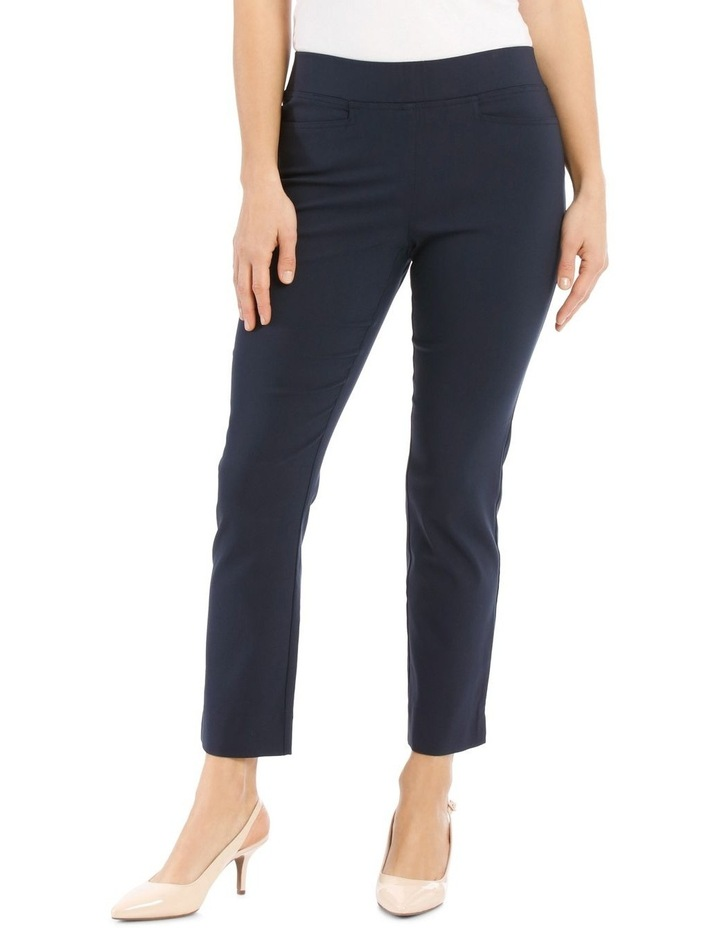 Essential Stretch Crop Pant - Navy image 1
