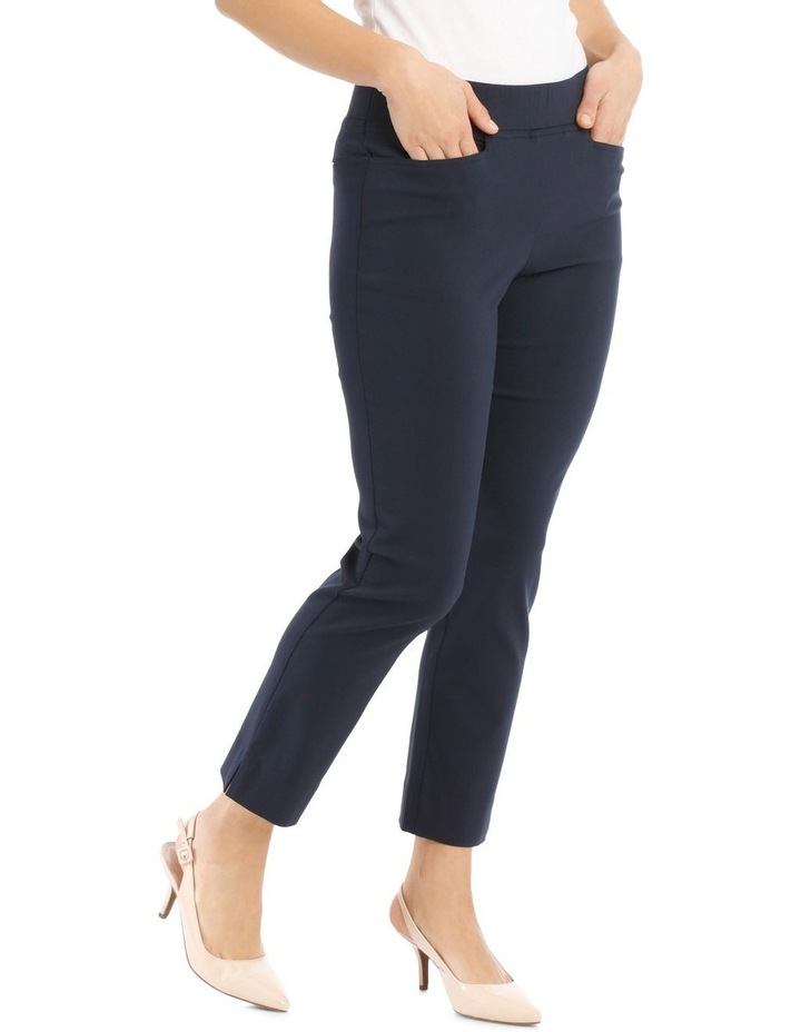 Essential Stretch Crop Pant - Navy image 2