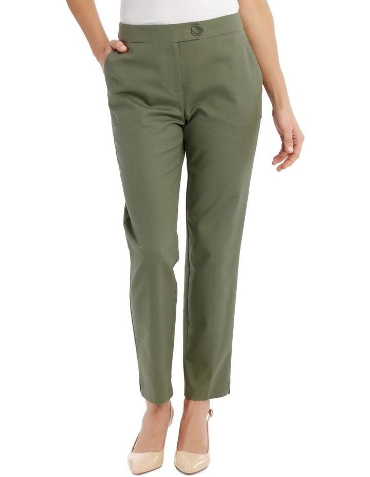 7/8 Stretch Cotton Pant-Khaki image 1