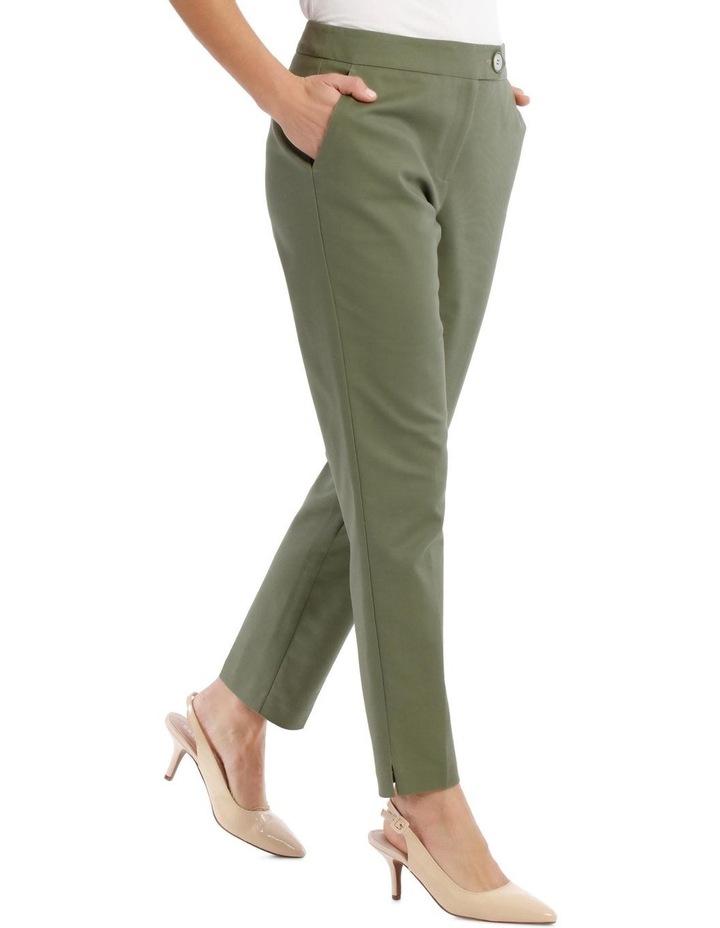 7/8 Stretch Cotton Pant-Khaki image 2