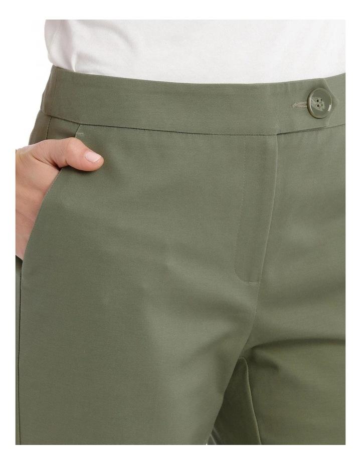 7/8 Stretch Cotton Pant-Khaki image 4
