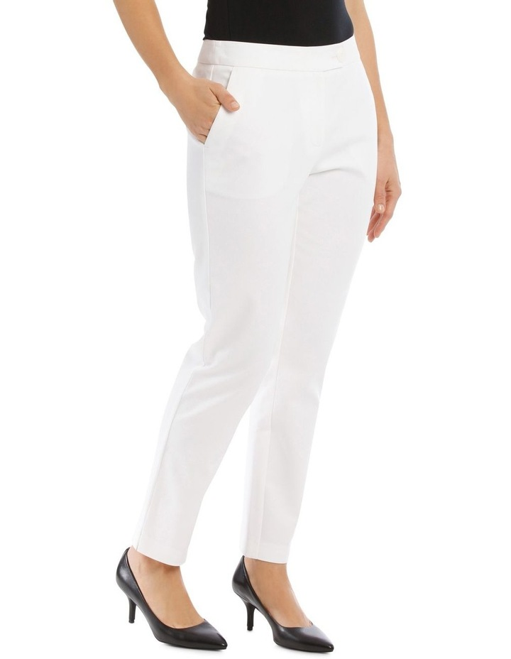 7/8 Stretch Cotton Pant-White image 2