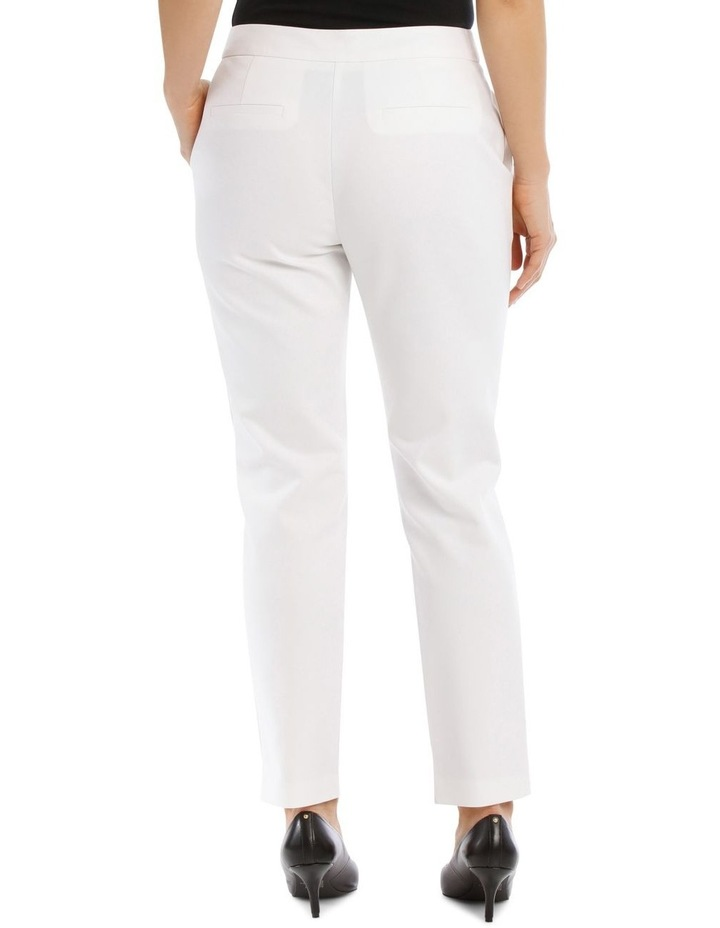7/8 Stretch Cotton Pant-White image 3