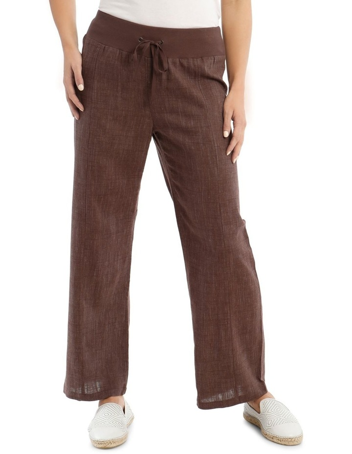 Rib Waist Wide Leg Pant image 1