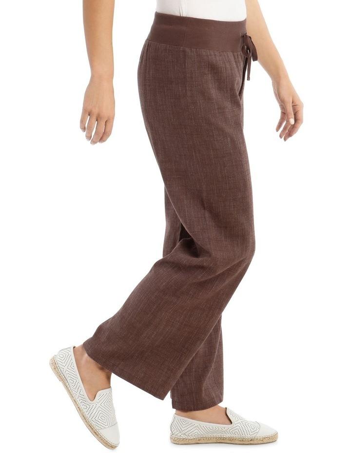 Rib Waist Wide Leg Pant image 2