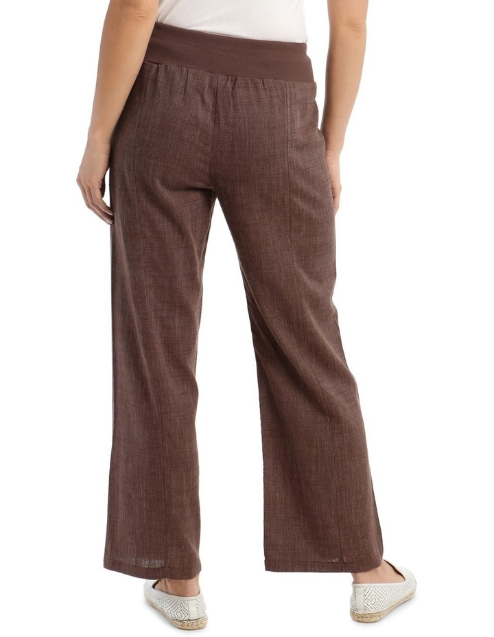 Rib Waist Wide Leg Pant image 3