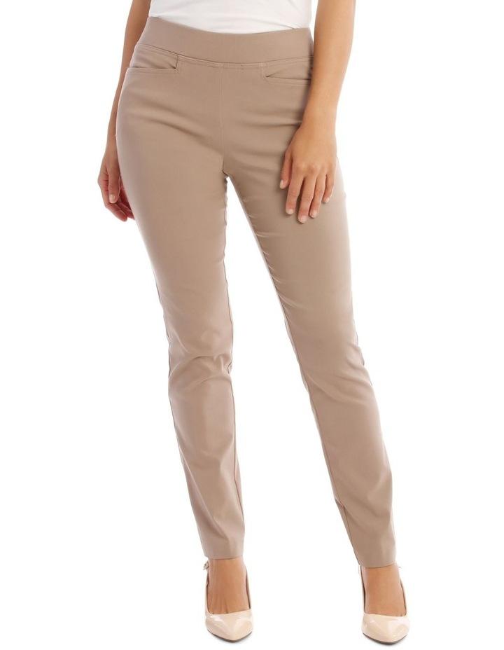 Essential Slim Full-Length Pant in Stone image 1