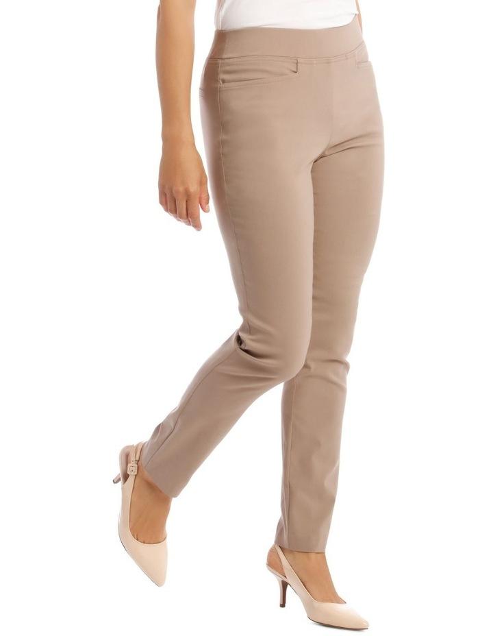 Essential Slim Full-Length Pant in Stone image 2