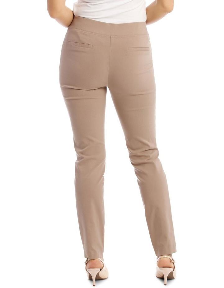 Essential Slim Full-Length Pant in Stone image 3