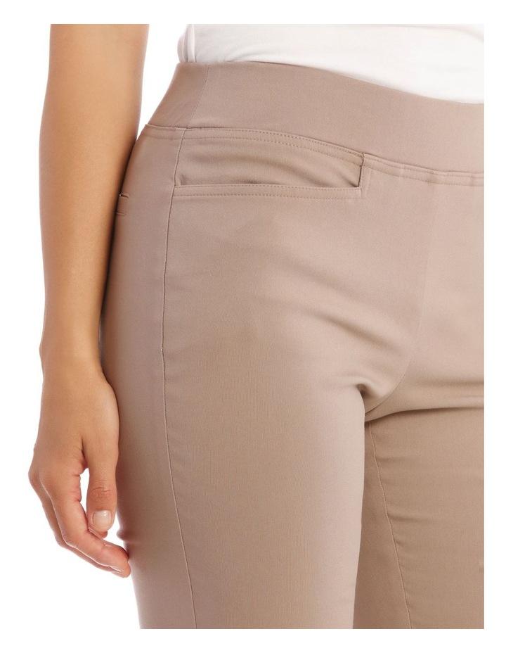 Essential Slim Full-Length Pant in Stone image 4