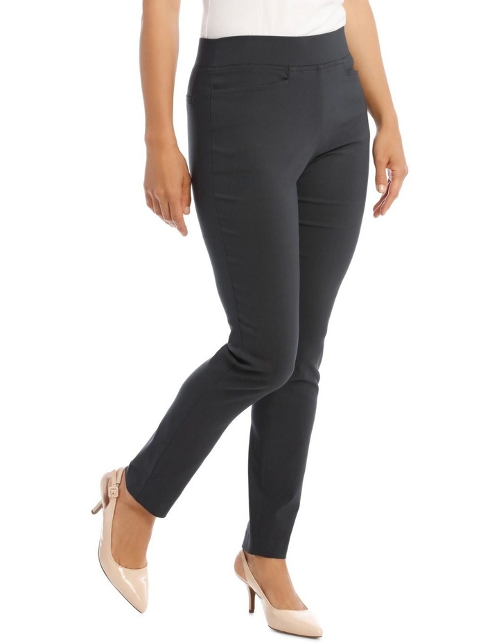 Essential Slim Full-Length Pant in Charcoal image 2