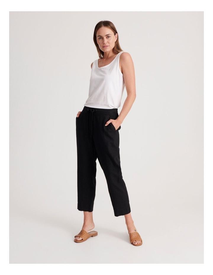 Linen Blend Straight Leg Pant image 2