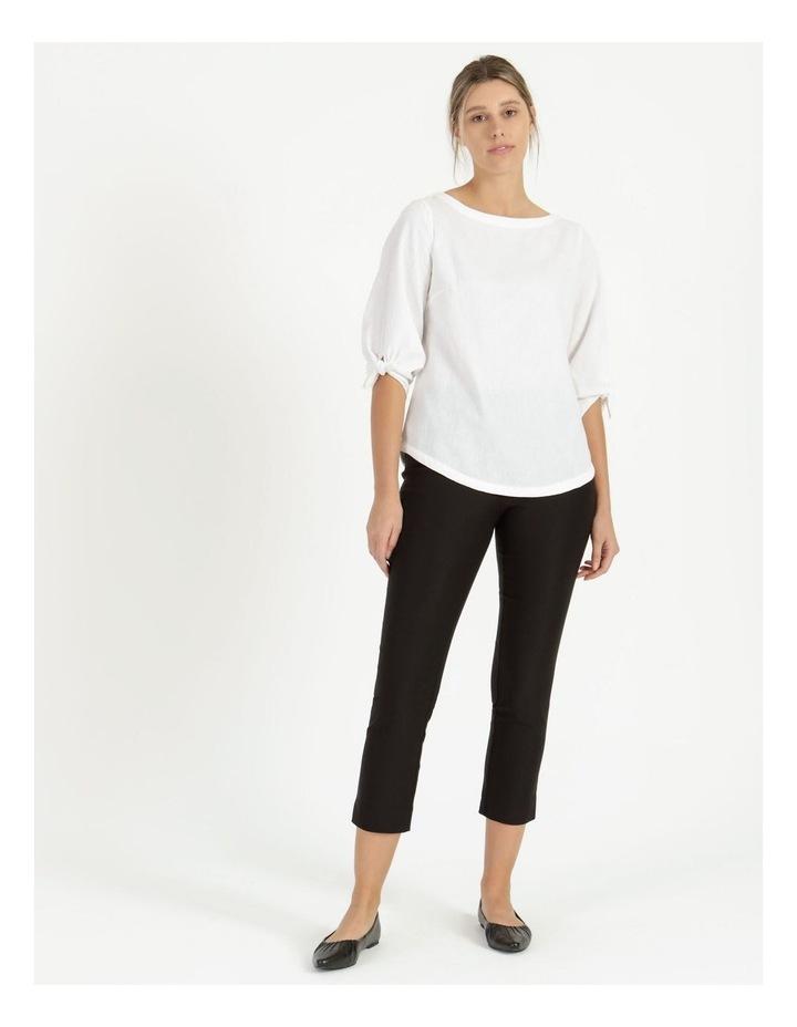 Essential Stretch Black Crop Pants image 1