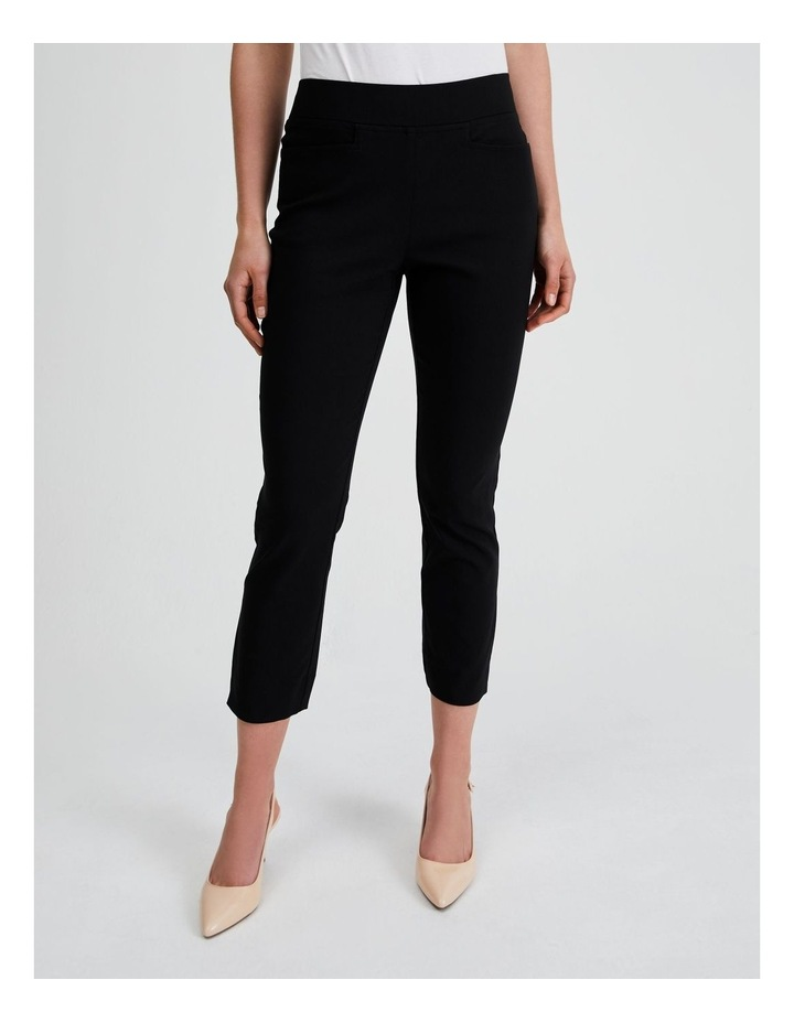 Essential Stretch Crop Pant in Black image 1