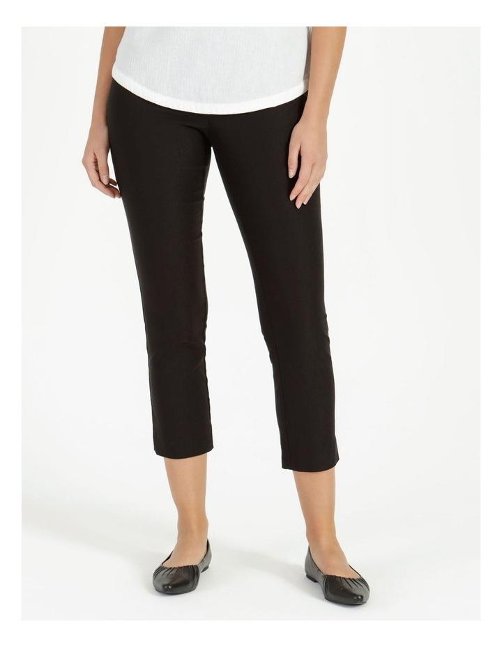Essential Stretch Black Crop Pants image 2