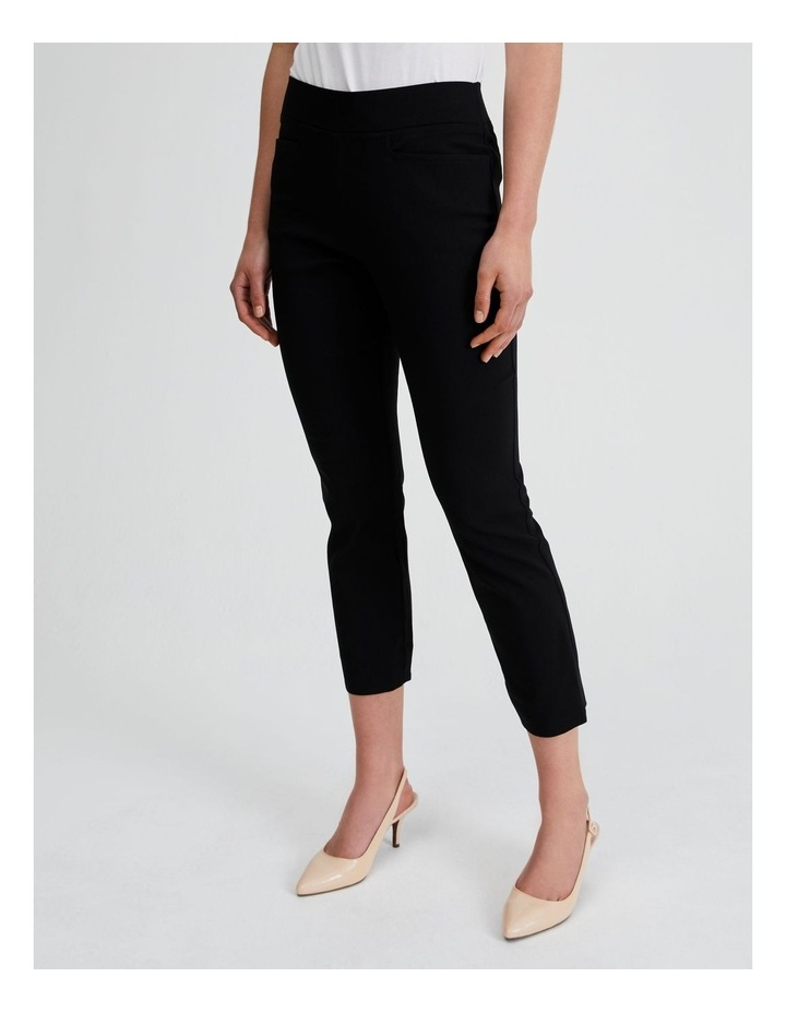 Essential Stretch Crop Pant in Black image 2