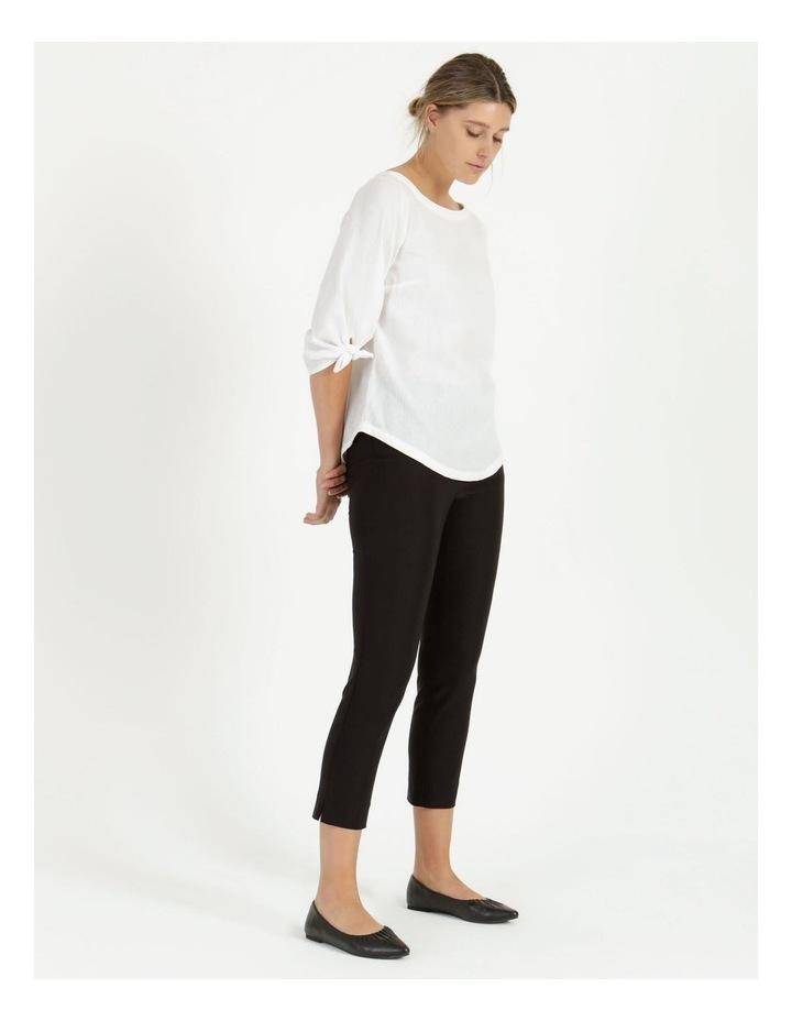 Essential Stretch Black Crop Pants image 3
