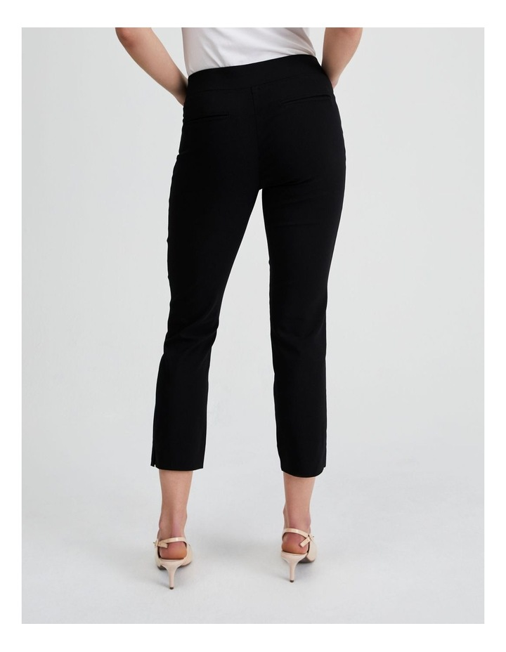 Essential Stretch Crop Pant in Black image 3