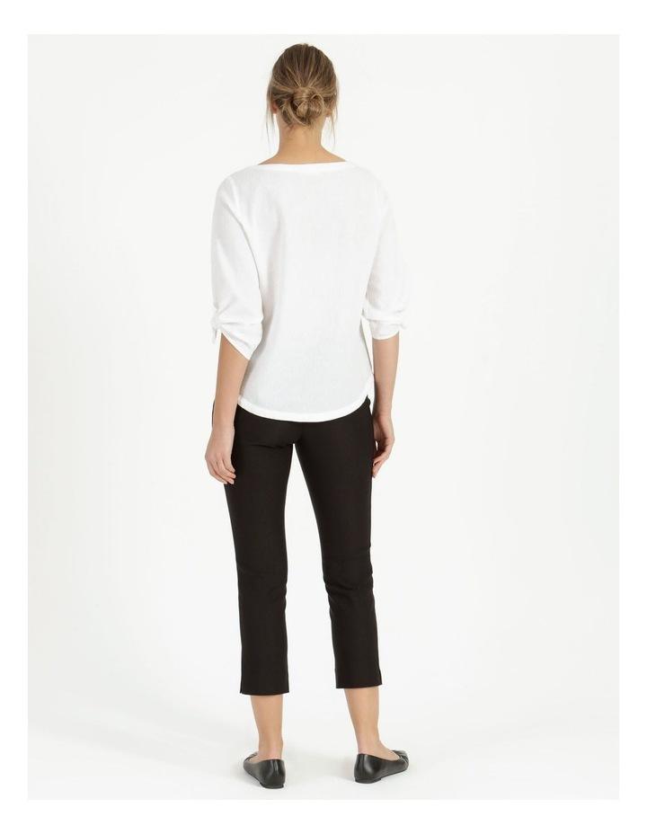 Essential Stretch Black Crop Pants image 4