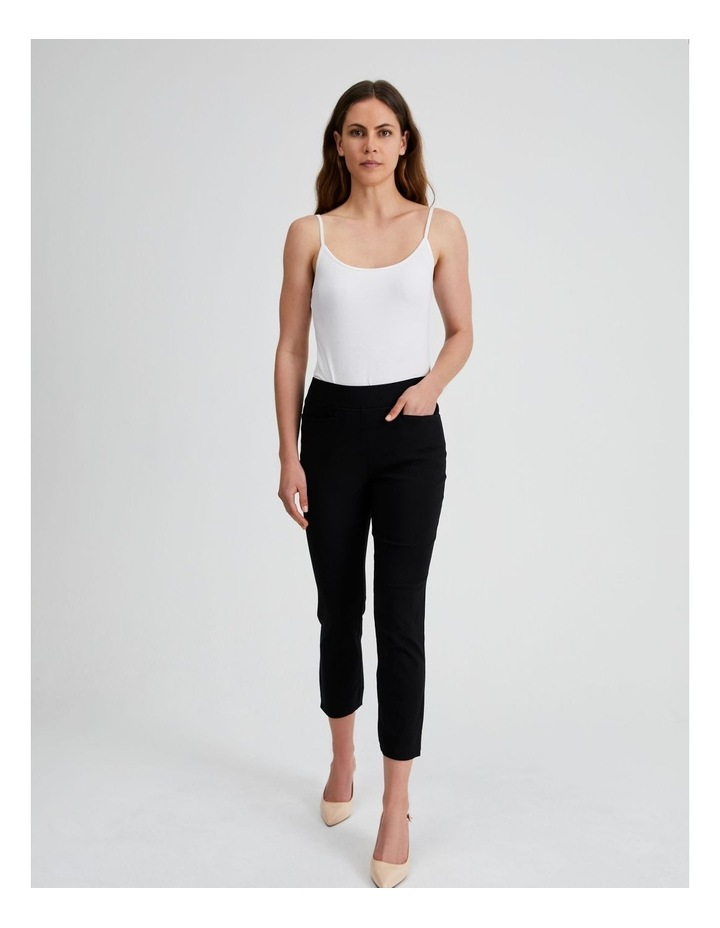 Essential Stretch Crop Pant in Black image 4