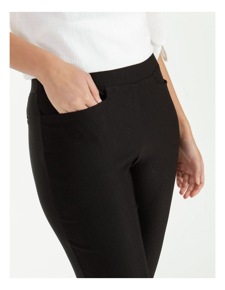 Essential Stretch Black Crop Pants image 5