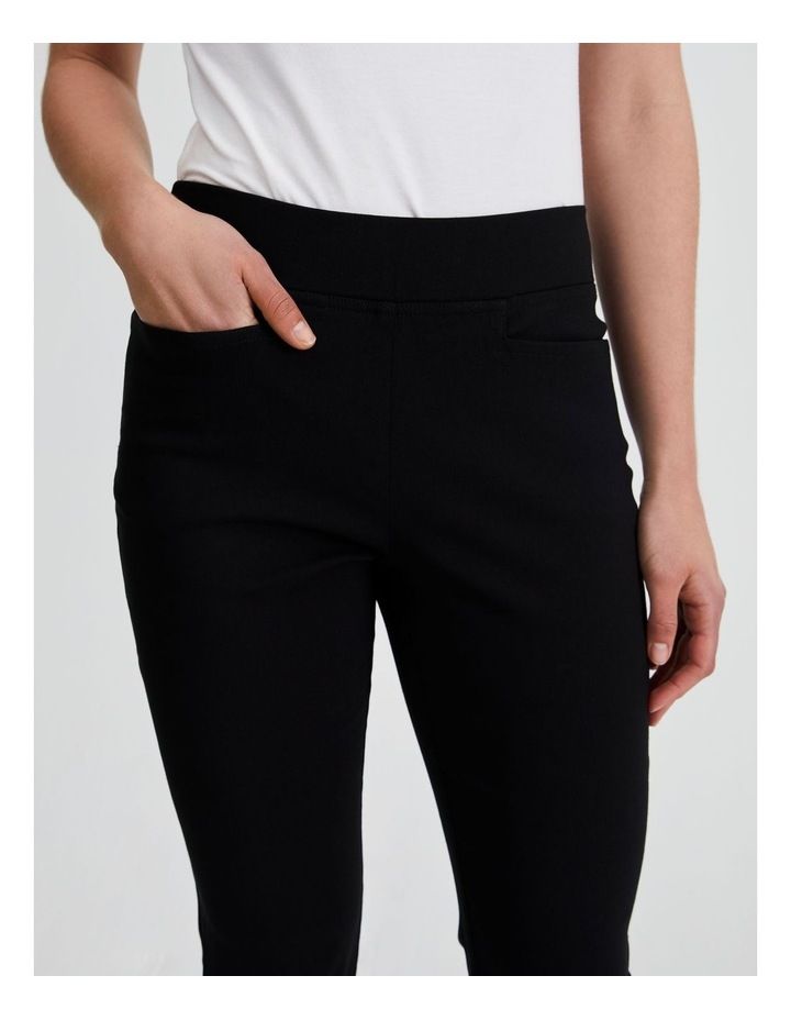 Essential Stretch Crop Pant in Black image 5