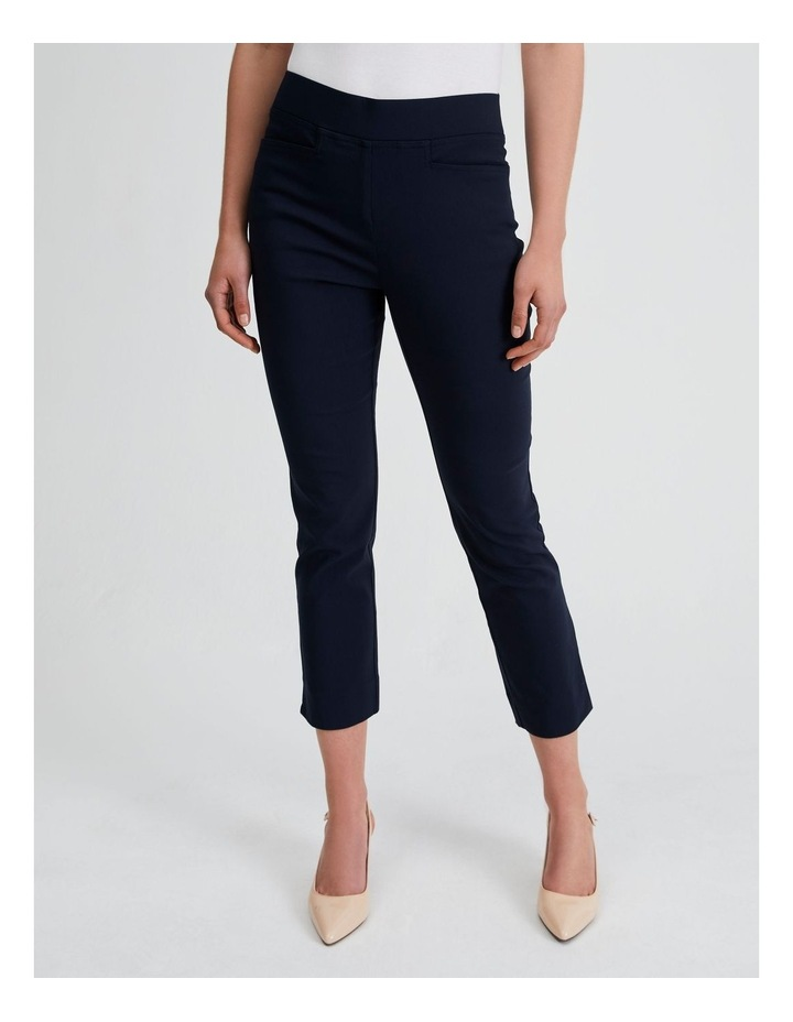 Essential Stretch Crop Pant in French Navy image 1