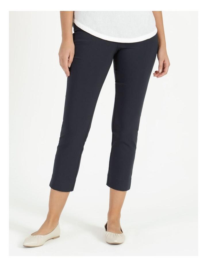 Essential Stretch Dark Navy Crop Pants image 2