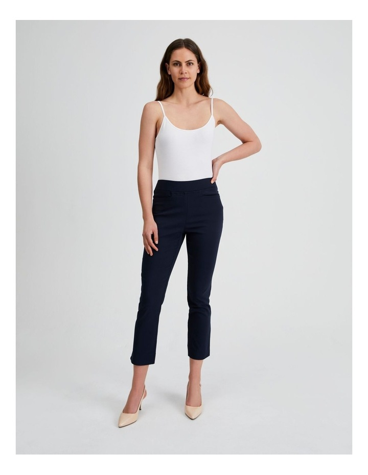 Essential Stretch Crop Pant in French Navy image 4
