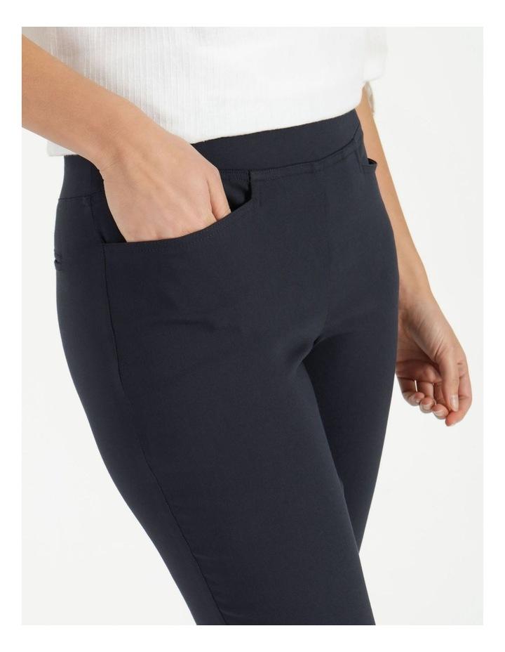 Essential Stretch Dark Navy Crop Pants image 5